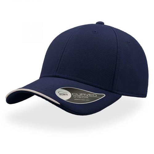 Бейсболка ESTORIL, застежка на липучке, темно-синий и белый