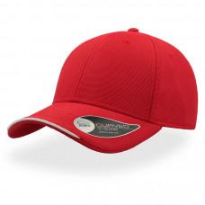 Бейсболка ESTORIL, застежка на липучке, красный и белый