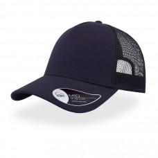 Бейсболка RAPPER JERSEY, пластиковая застежка, темно-синий