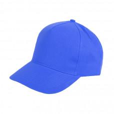 Бейсболка HIT, 5 клиньев, застежка на липучке, синий