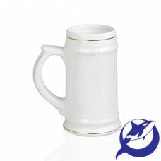 Кружка керамика пивная, белая 620мл