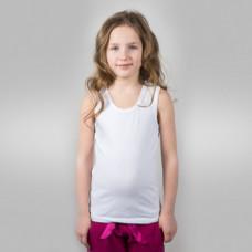 Майка детская х/б белая (26) 98-104