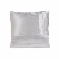 Наволочка комбинированная; цвет: белый / белый; на молнии; полисатин; 400 х 400 мм