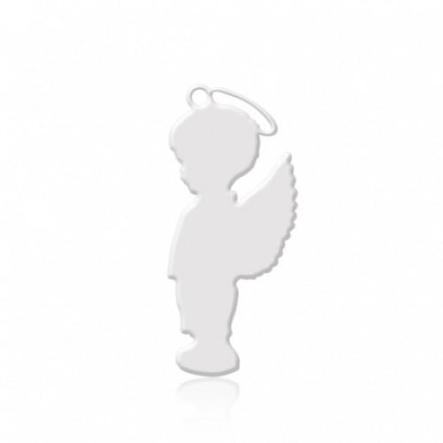 Брелок металл Мальчик белый 52х23мм