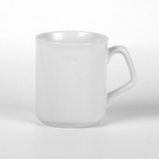 Кружка керамика белая, с фигурной ручкой 270мл