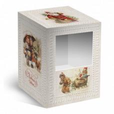 Коробка под елочный шарик Новогодний винтаж