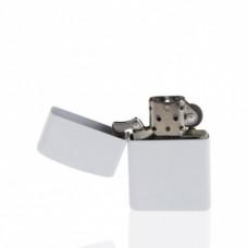 Зажигалка металл белая бензиновая под сублимацию