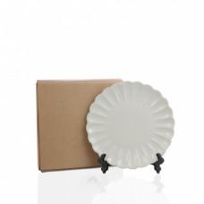 Тарелка фарфор белая волнистая D210мм
