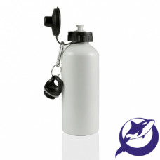 Бутылка металл белая 600 мл премиум