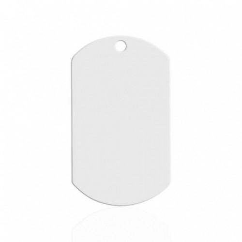 Брелок металл жетон белый 50х29мм