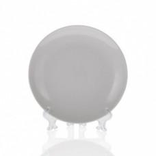 Тарелка фарфор белая для 3D 200 мм (8) без упаковки с подставкой