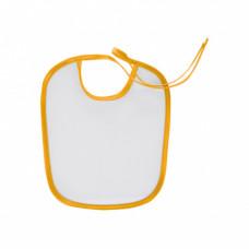 Слюнявчик сэндвич, хлопок и ПЭ, 220х240 мм, кант желтый
