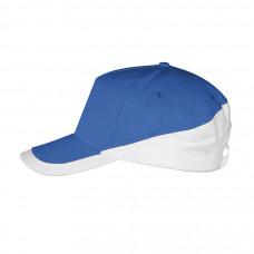 Бейсболка BOOSTER, металлическая застежка, синий и белый