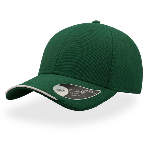 Бейсболка ESTORIL, застежка на липучке, темно-зеленый и белый