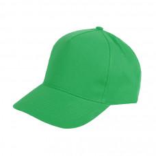 Бейсболка HIT, 5 клиньев, застежка на липучке, зеленый