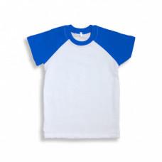 Футболка дет. «Color», хлопок и имитация хлопка, синий рукав 26 (98-104)