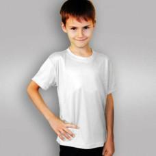 Футболка детская синт. субл., белая (28) 104-110