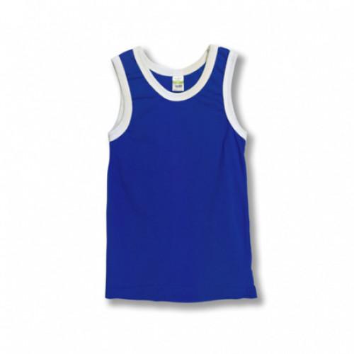Майка детская х/б синяя (26) 98-104