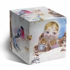 Коробка под кружку Варежки