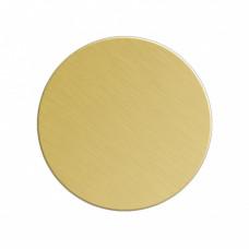Заготовка значка золото круг металл для сублимации D40мм
