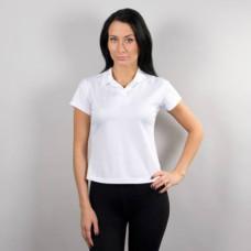 Рубашка поло, женская, белая, ложная сетка, ПЭ, ХS