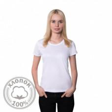Футболка женская, классическая, белая, хлопок 100%, 50, XL