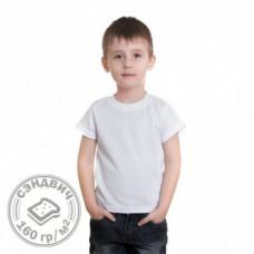 Футболка детская сэндвич, хлопок и ПЭ, 160 г/м.кв. 32, рост 122