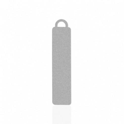 Брелок металл авто серебро 55х13мм
