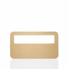 Заготовка бейджа золото (SU33) для сублимации 70х40мм с окошком 60х12мм