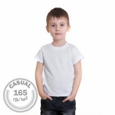 Футболка детская Casual 165 гр/м.кв, хлопок и полиэстер имитация хлопка, 34 (122-128)