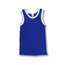 Майка детская х/б синяя (28) 104-110