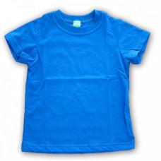 Футболка детская х/б синяя Стандарт (28) 104-110