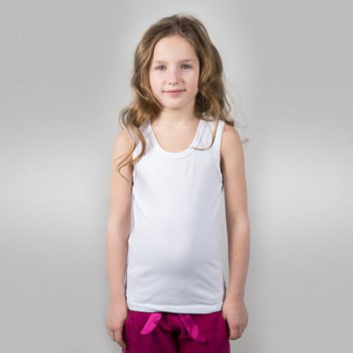 Майка детская х/б белая (34) 122-128