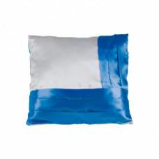 Наволочка комбинированная; цвет: белый / синий; на молнии; полисатин; 400 х 400 мм