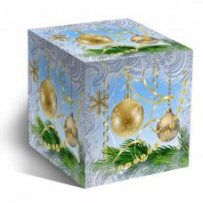 Коробка под кружку Новогодние шары