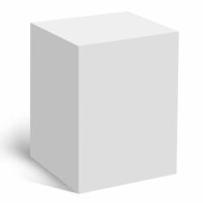 Коробка под кружку белая (пивная 500мл)